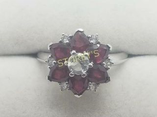 Silver Ruby 3ct  Ring    240