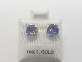 10K Tanzanite 3ct  Earrings    1 560