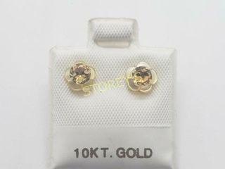 10K Citrine 2In1 0 3ct  Earrings    200
