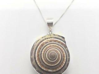 Silver Snail 18  Necklace    160