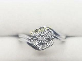 Silver 7 Diamond Ring    140
