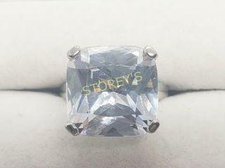 Silver Big Cz Ring