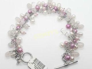 Silver Fresh Wate Pearl 7 5  24G Bracelet    200
