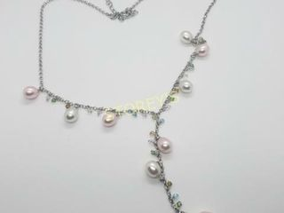 Silver Fresh Water Pearl Necklace    300