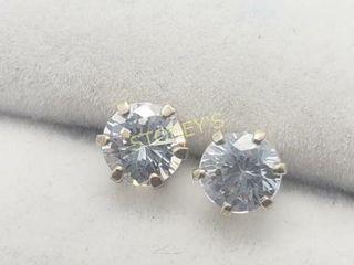 Silver CZ Earrings    240