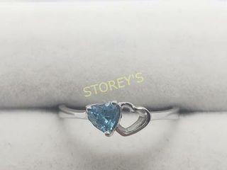 Silver Blue Topaz Ring    100