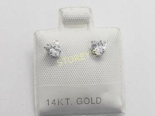 14K Cz 10K Backing Earrings    240