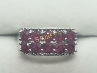 Silver Ruby 1 2 APRXct  Ring    300