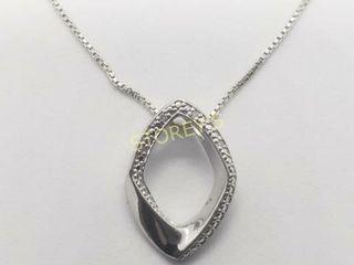 Silver Diamond 18  Necklace    260