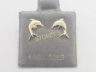 14K Dophin Earrings    240