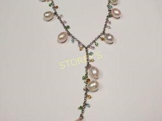 Silver F W Pearl Necklace