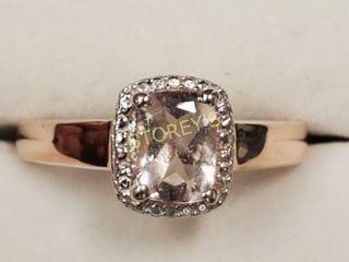 Silver Morganite Ring