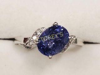 10K Tanzanite   Diamond Ring    1700