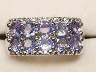 Silver Tanzanite Ring