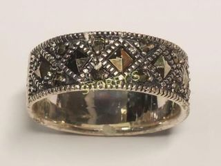 Silver Marcasite Ring  BK107 192