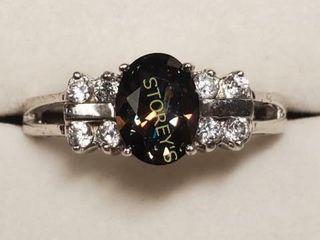 Silver Mystic Topaz Cubic Zirconia Ring