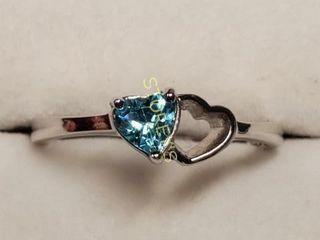 Silver Gemstone Ring  weight 1 7g  BK107 195