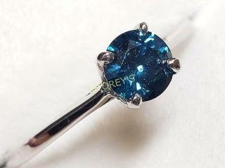 14K Blue Diamond 0 45ct  Ring    3500