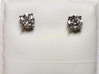 14K Diamond 0 4ct  Earrings    1760