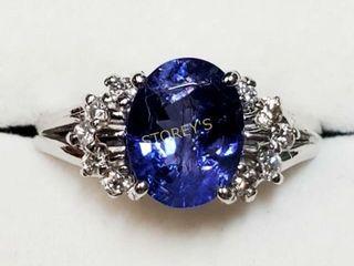 10K Tanzanite 2 1ct  Diamond 0 2ct  Ring    5500