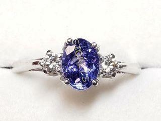10K Tanzanite 1ct  Diamond 0 14ct  Ring    2795