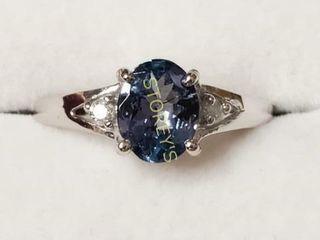 10K Tanzanite 1 2ct  Diamond 0 05ct  Ring    2390
