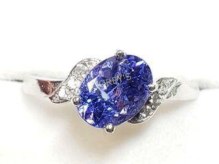 10K Tanzanite 1ct  Diamond 0 06ct  Ring    1720