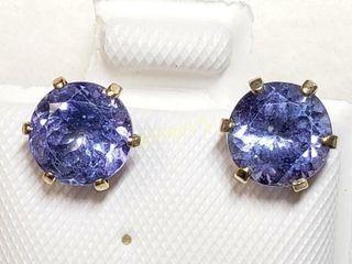 10K Tanzanite 3ct  Earrings    1560
