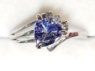 10K Tanzanite Diamond Ring    1770