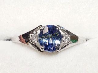 10K Ceylon Sapphire Diamond Ring    2500