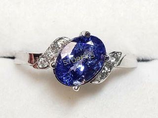 10K Tanzanite 0 95ct  Diamond 0 06ct  Ring    270