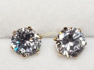 10K CZ Earrings