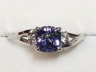 14K Tanzanite 0 8ct  Diamond 0 06ct  Ring    2800