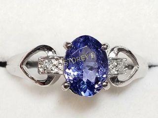 10K Tanzanite Diamond Ring    2410