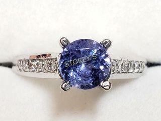 14K Tanzanite 0 9ct  Diamond 0 12ct  Ring    6000