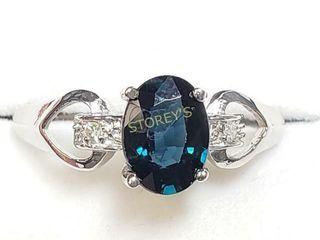 14K Sapphire 1ct  Diamond 0 04ct  Ring    1700