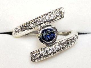 Silver Gem Stones Ring