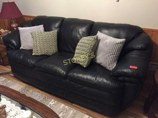 Black leather like Couch    90 x 36