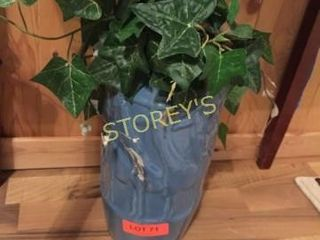 Blue Vase   Faux Plant