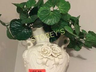 Vase   Faux Greenery