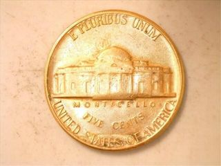 1965 Jefferson Nickel  Gold Plated