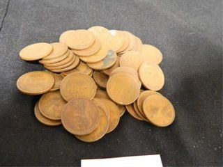 Wheatback Pennies   50  Assorted Years