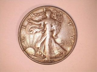 1945 S Mint Walking liberty Dollar Coin