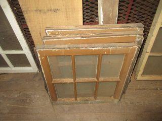 3 OlD WOOD WINDOWS