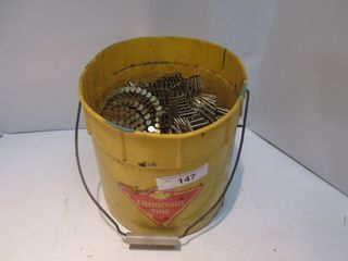 YEllOW PAIl OF ROOFING NAIlS