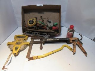 lOT  MEASURING TAPE  ClAMP  PRY BAR  MISC