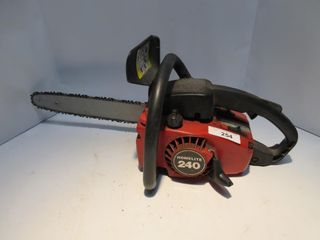 RED HOMElITE CHAIN SAW