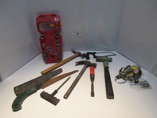 lOT  HAMMERS  SAWS  MISC