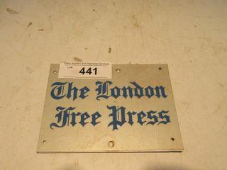 lONDON FREE PRESS SIGN