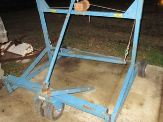 BlUE ROOFING CARRIE CART W  WINCH